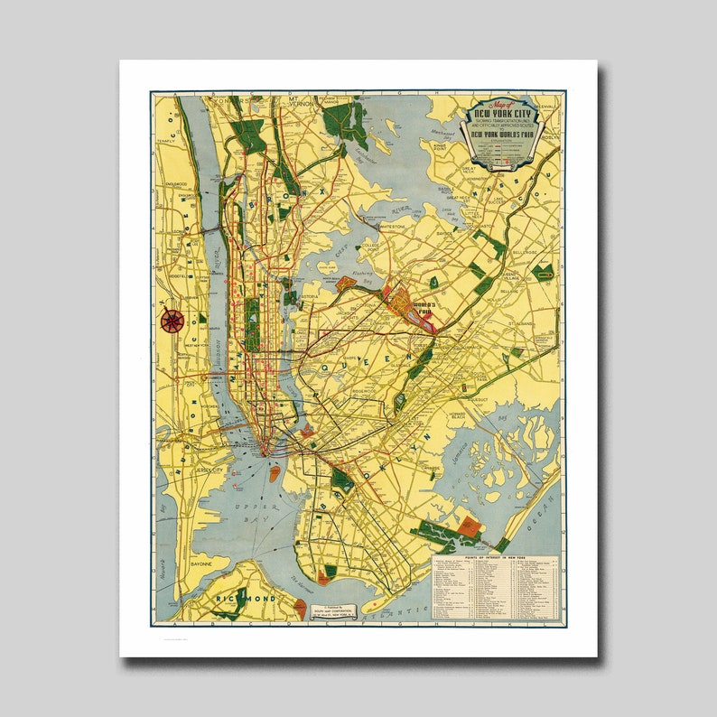 Subway Map Manhattan New York.New York Map Manhattan Subway Map Vintage
