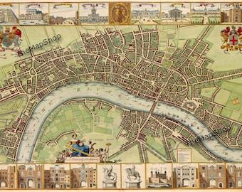 London Map - Vintage Street Map