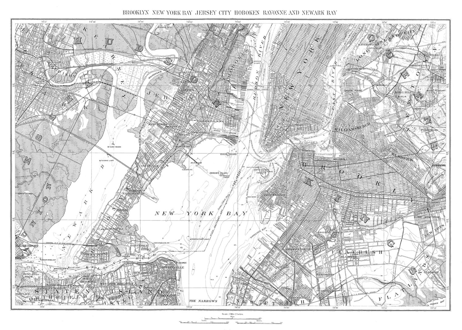 New York Map Black And White.New York City Map 1893 Map Of Newark New York Brooklyn Vintage Etsy