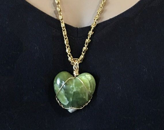 Washington State Serpentine Heart - Handmade in the USA