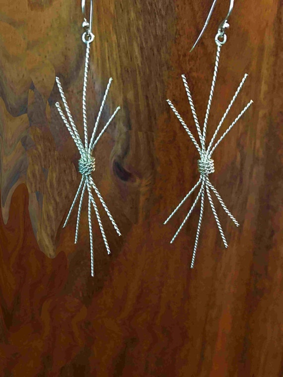Twisted Sterling Wire Earrings - Handmade in the USA