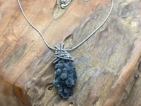 Extremely Rare Black Coral Druzy - Handmade in the USA