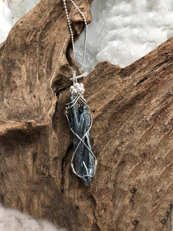 Reserved Stillibite Pendant Wrapped in Sterling on a Sterling Chain,
