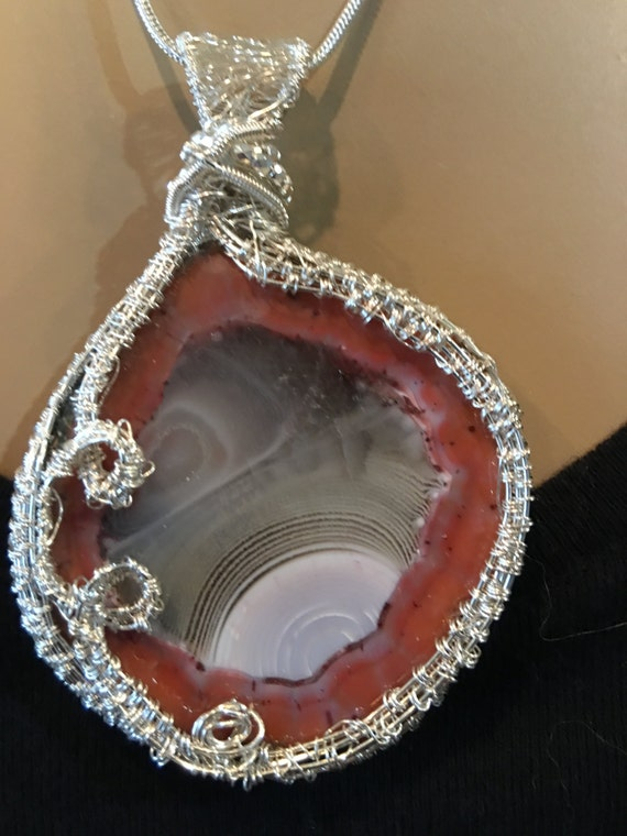 Very Ethereal Berber Agate - Looks like Extra-Terresteal Rock - Hand made in the USA