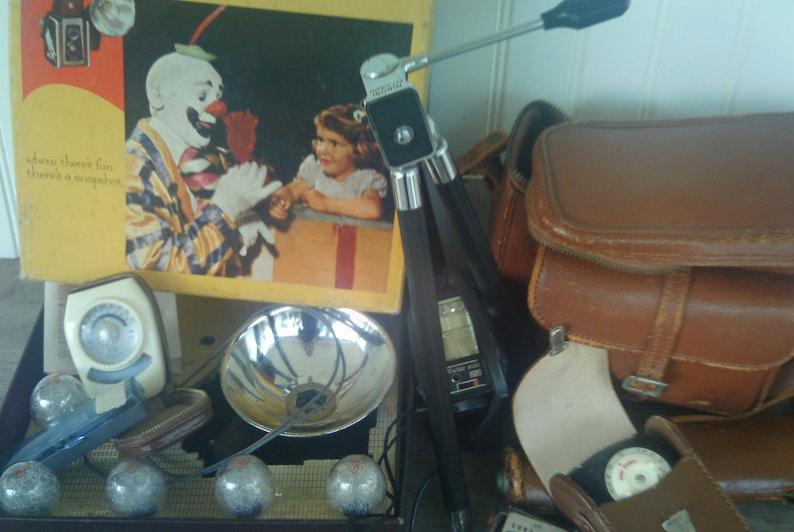 Vintage Kodak Camera Case and Accessories