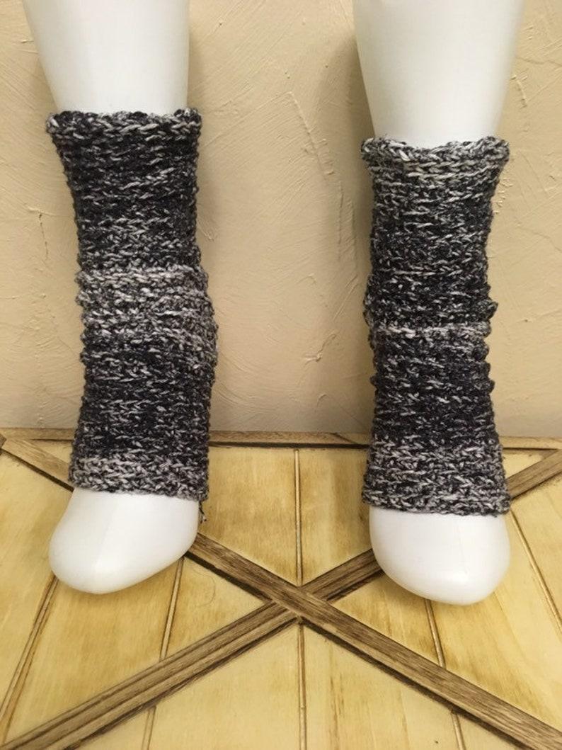 Yoga Socks in Granite Black Ombre Cotton