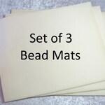Beading Mat, Vellux Mat, Free Shipping, 10x12 Bead Mat, 3 Pack Bead Mats, Beige Bead Mats