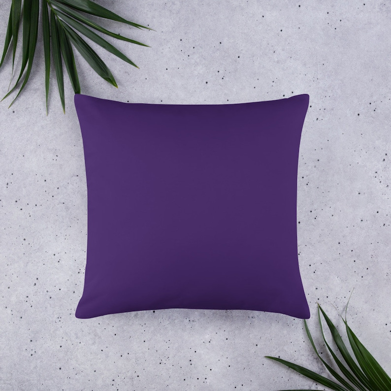 Decorative Throw or Accent Pillow Sofa accessory 18 X 18 Inch 20 X 12 Inch or 22 X 22 Inch Basic Pillow in Purple Black Mandala Design