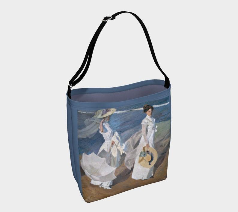 Impressionist Art Bag Strolling Along the Seashore by Joaquin Sorolla Y Bastida Day BagBeach Travel Bag Victorian Ladies Walking the Beach