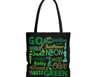Go Green Tote Bag, Sturdy Book Bag, Durable Cloth Grocery Bag, Environmentally Sound, Get ready for the Plastic Bag Ban in Style Utility Sac