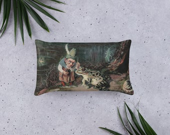 Basic Pillow, Little Old Man Of The Woods, 20 X 12 Inch, Decorative Throw or Accent Pillow, Sofa accessory, Head support cushion, Headrest