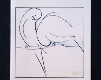 Two Birds Asleep -Set of 5 blank cards