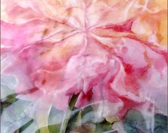 Fine Art Print from an original watercolor - Rose