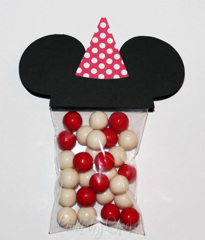 Mickey Mouse fiesta Favor bolsas con sombrero de lunares rojo  2acda7a0433