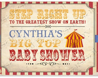 Vintage Circus Baby Shower Sign
