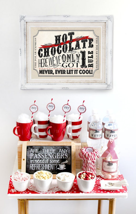 Polar Express Hot Chocolate Pack Red Instant Download Partially