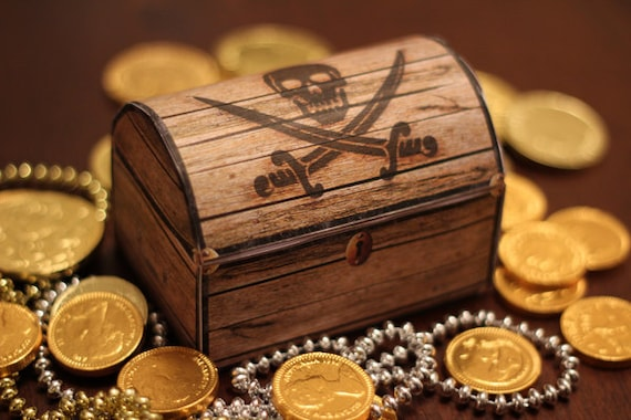 pirate s treasure chest box instant download printable birthday
