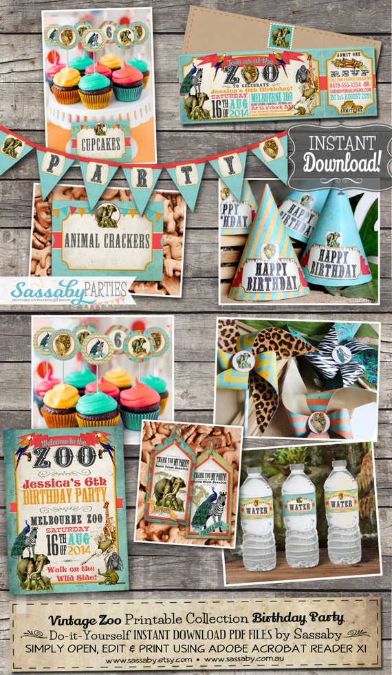 Vintage Zoo Party Collection