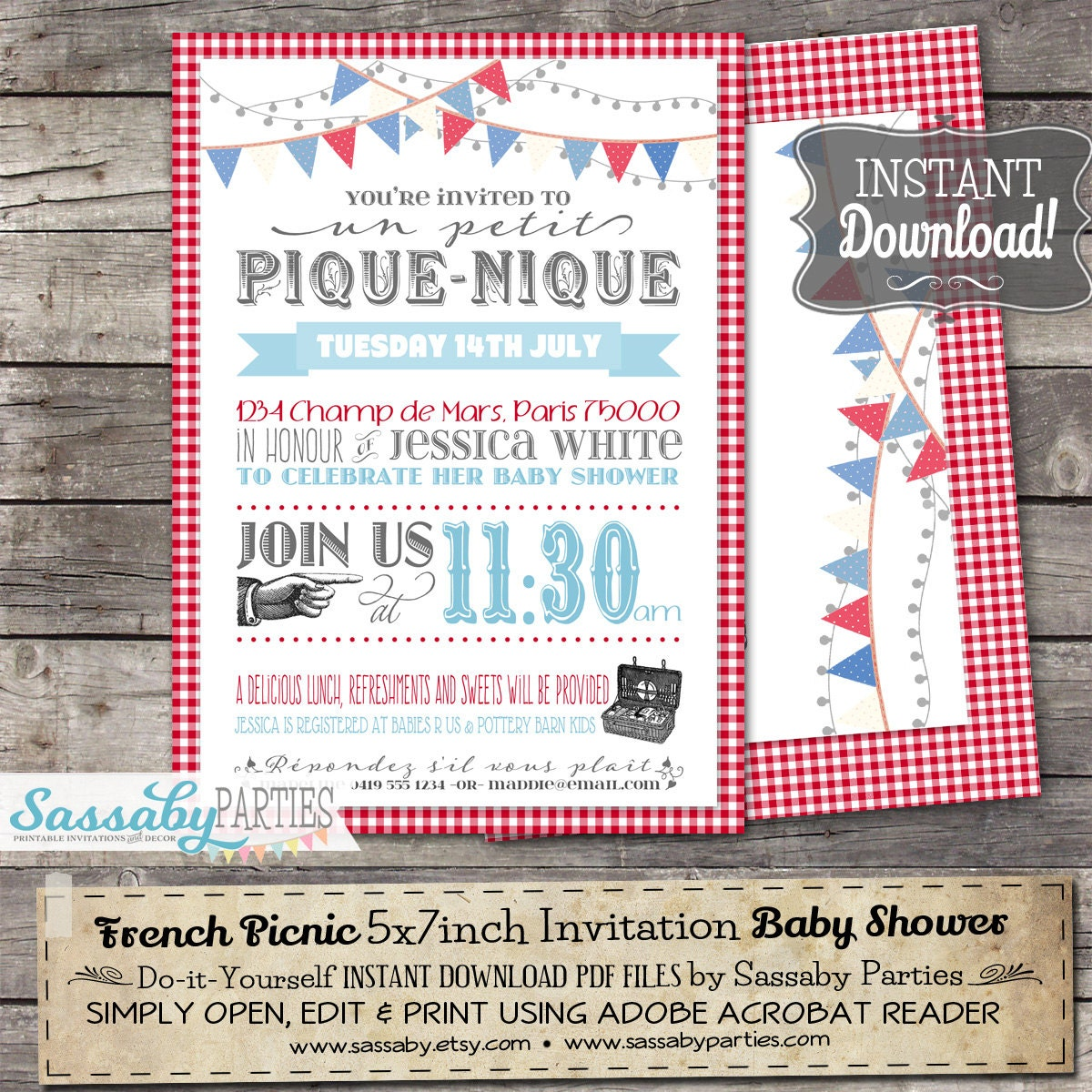French picnic invitation instant download editable etsy zoom solutioingenieria Choice Image