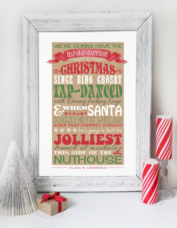 Christmas Vacation Quote INSTANT DOWNLOAD Clark Griswold   Etsy