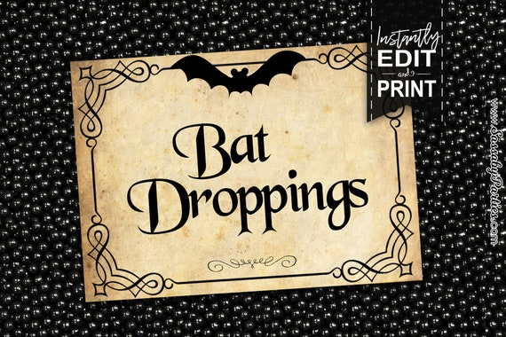 graphic about Harry Potter Decorations Printable named Halloween Occasion Labels - Instantaneous Obtain - Editable