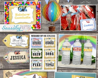 Wizard of Oz Party Collection - INSTANT DOWNLOAD - Editable & Printable Birthday Party Decorations by Sassaby Parties