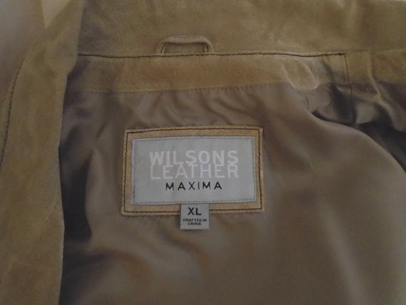 Vintage 1990s Suede Jacket Lacing Sleeves Puffed … - image 6