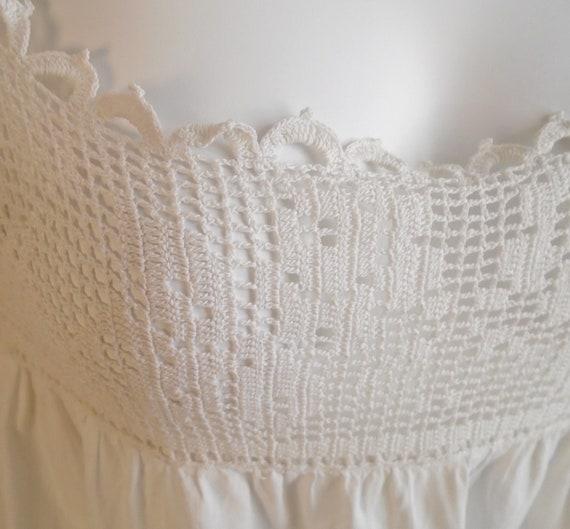 Vintage 1910s Nightgown Antique White Cotton Nigh… - image 6