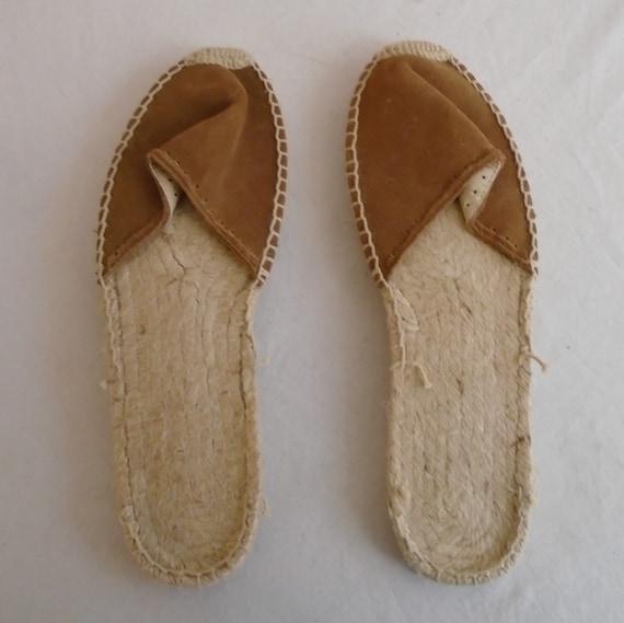 Vintage 1990s Shoes Brown Suede Mules Women's Sum… - image 2