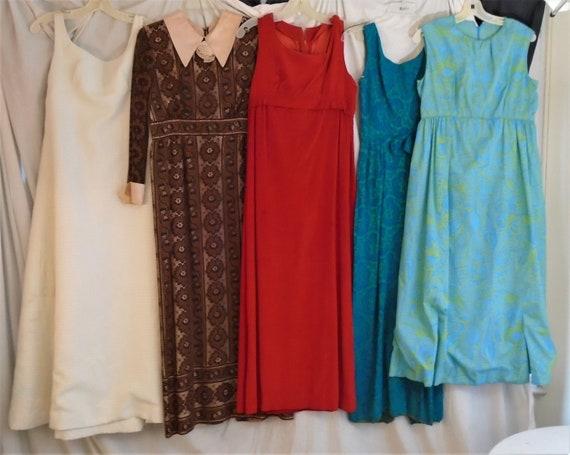 Vintage 1960s Dresses Wholesale Lot Maxi Dresses V