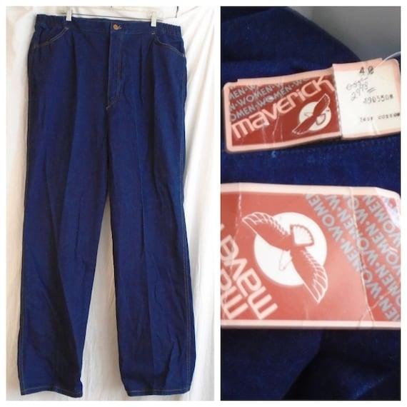 Vintage 1970s Jeans XL Size Deadstock Maverick Bra