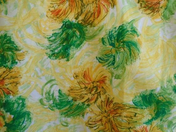 Vintage 1960s Hawaiian Shirt Cotton Floral Print … - image 6