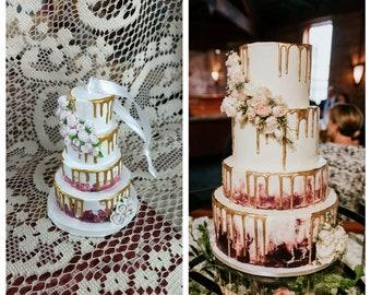 Wedding Cake Ornament, Wedding Cake Replica, Personalized Ornament, Wedding Gift, Personalized Gift, Custom Ornament, Anniversary Gift
