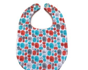 Unisex Baby Bib - Orange and Aqua Critters - Baby Shower Gift - Baby Gift Under 15