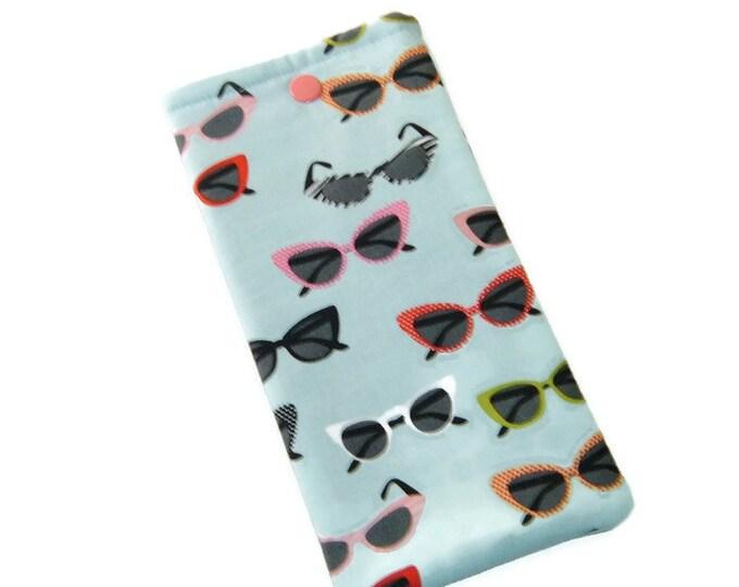 Eyeglasses Case - Retro Sunglasses - Stocking Stuffer -  Gift for Grandma - Gift Under 10
