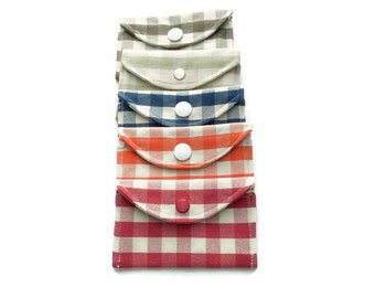 Snap Wallets - Checks and Stripes - Gift Card Holder - Stocking Stuffer
