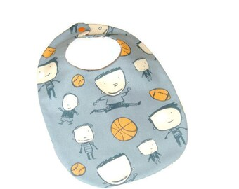 Sports Bib - Baseball-Super Bowl- March Madness - Gift for Baby Boy - Baby Boy Gift Under 10
