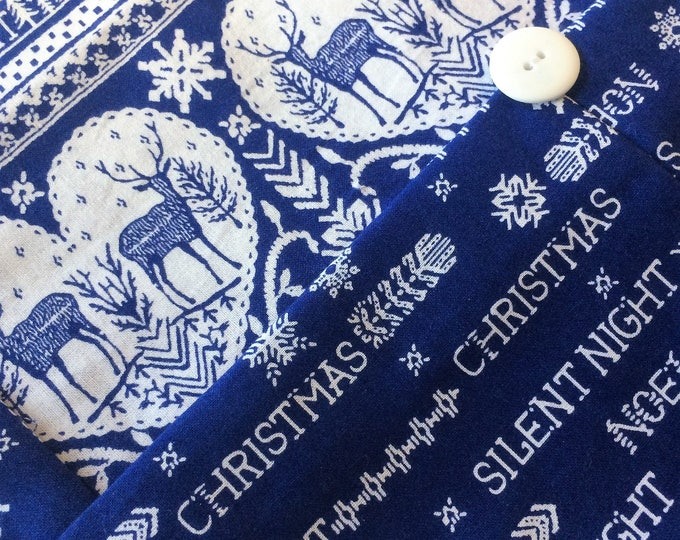 Christmas Table Runner - Blue and White - Holiday Decor - Nordic Decor