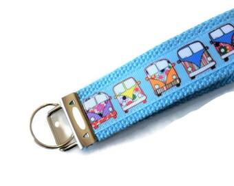Key Fob - VW Bus - Carpool Key Chain - Retro Key Chain - Gift for Baby Boomer - 60s Throwback