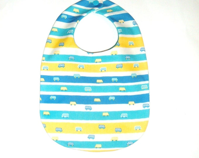Baby Boy Bib - Tiny Cars & Vans - Baby Gift Under 10