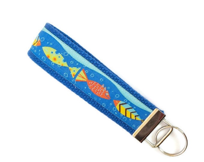 Key Fob - Fish Keychain - Pool Key - Stocking Stuffer - Gift Under 10