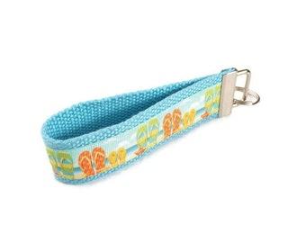 Flip Flops Key Fob - Pool Key Ring - Stocking Stuffer - Gift for Swimmer