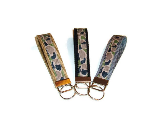 Camo Key Fob - Camouflage - Gift for Veteran - Gift Under 10 - Stocking Stuffer