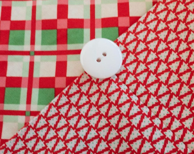 Plaid Christmas Table Runner - Red and Green - Reversible Holiday Table Topper