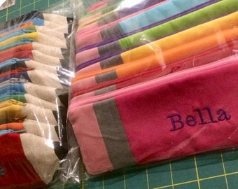 PERSONALIZED Pencil Pouch-Back to School - Birthday Party Favor - Gift Under 15