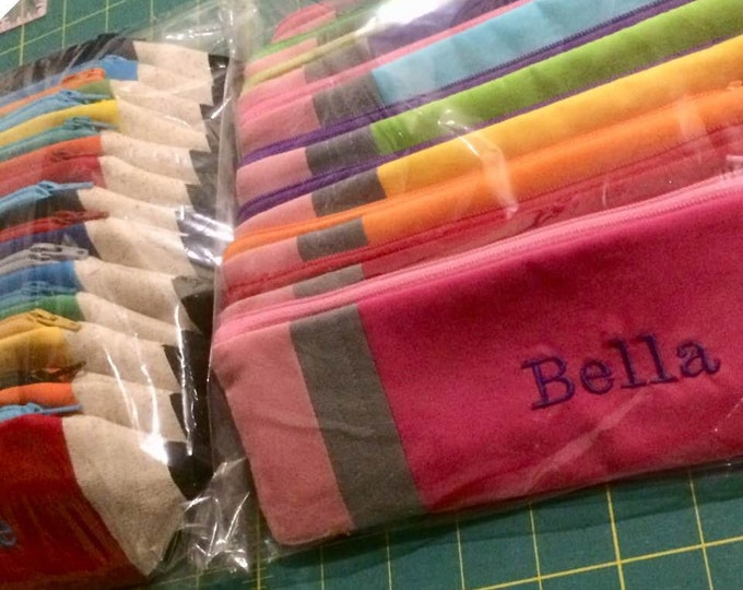 PERSONALIZED Pencil Pouch- Back to School - Birthday Party Favor - Gift Under 15