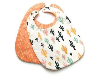 Cactus Baby Bib - Unisex Baby Bib - New Baby Gift - Gift for Baby