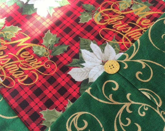 Christmas Table Runner - Traditional Christmas - Red Plaid Linens