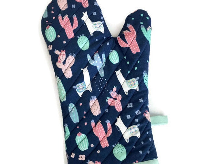 Oven Mitt - Cactus - Llamas - Oven Glove