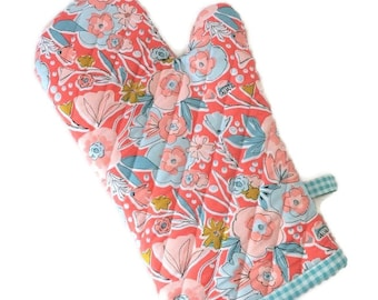 Floral Oven Mitt - Gift for Mom - Oven Glove
